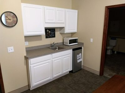 Kitchenette in apartment room